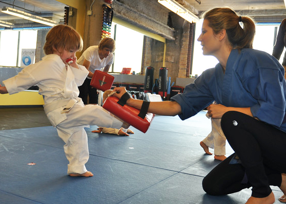 Toddler martial arts - Kick the targets