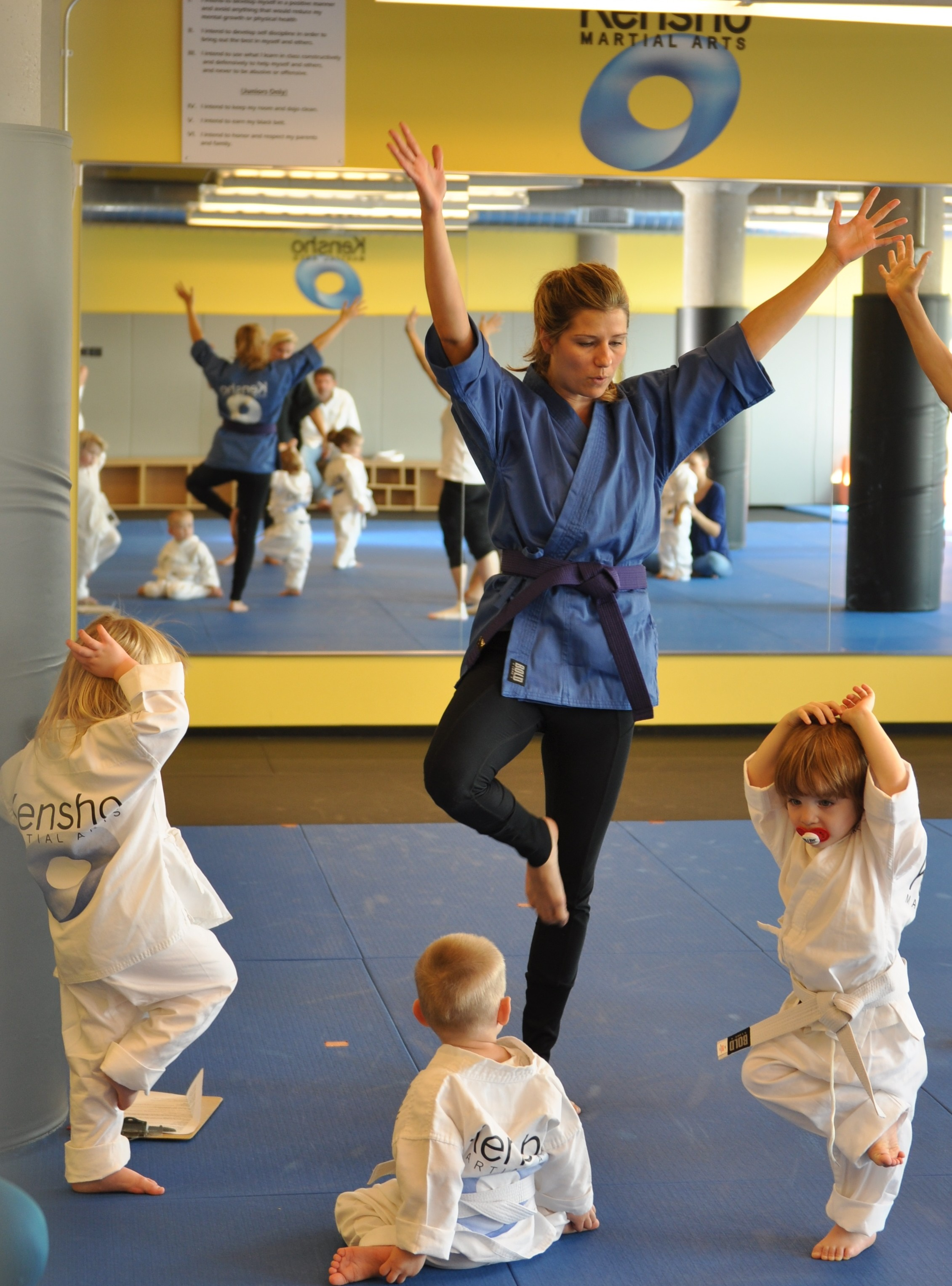 Toddler martial arts balance drills