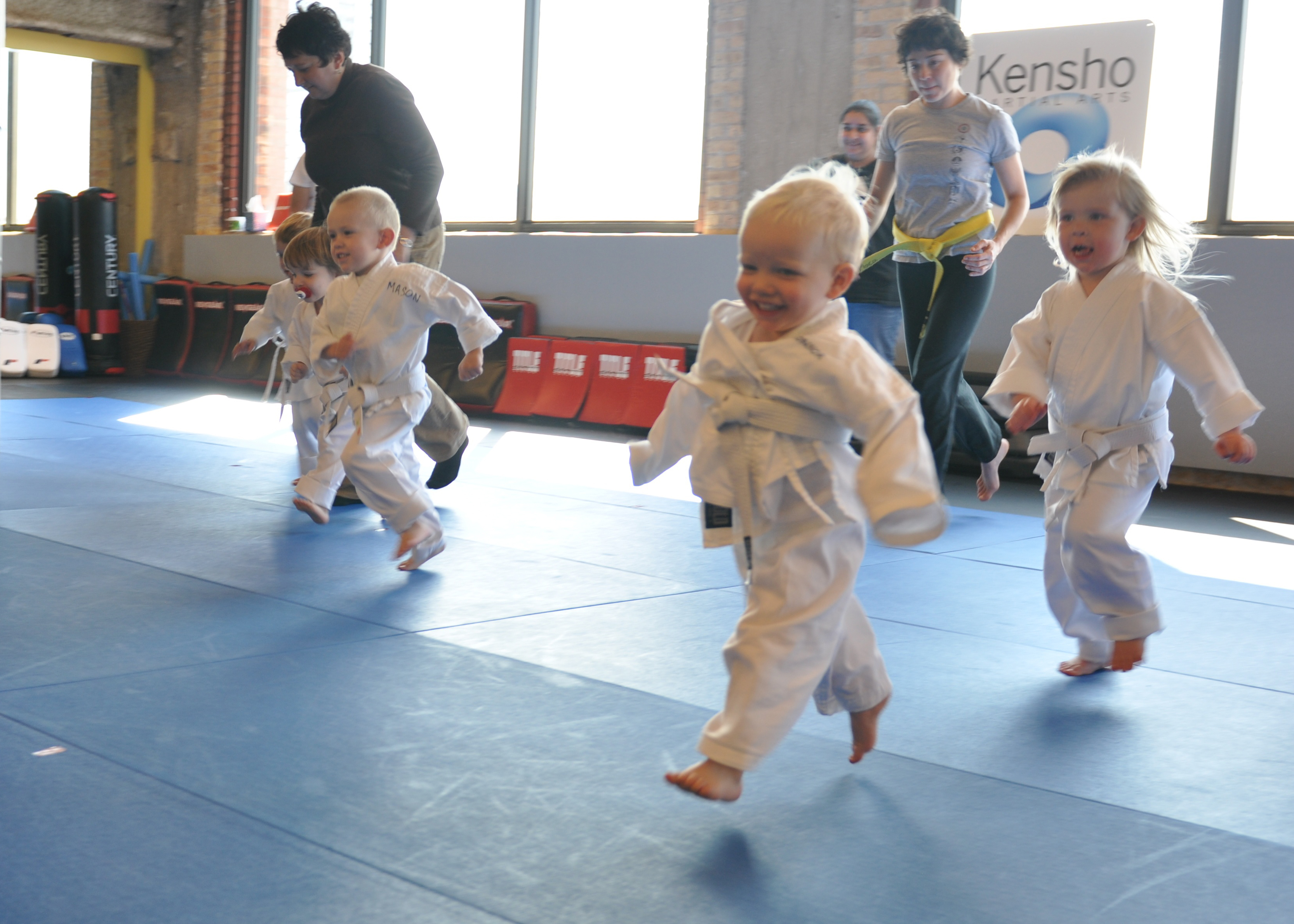 Parents & kids martial arts races