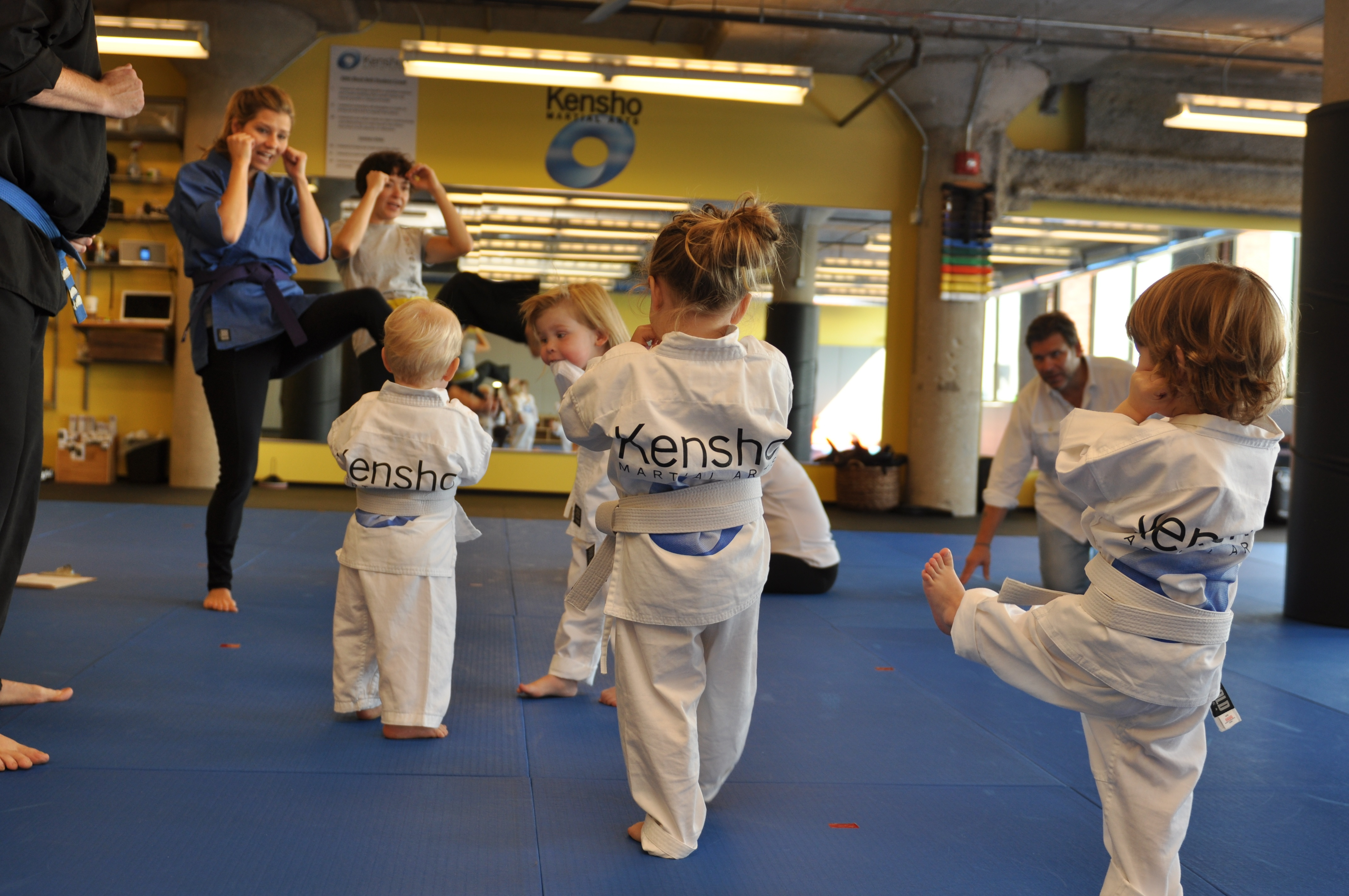 Toddler martial arts kicks