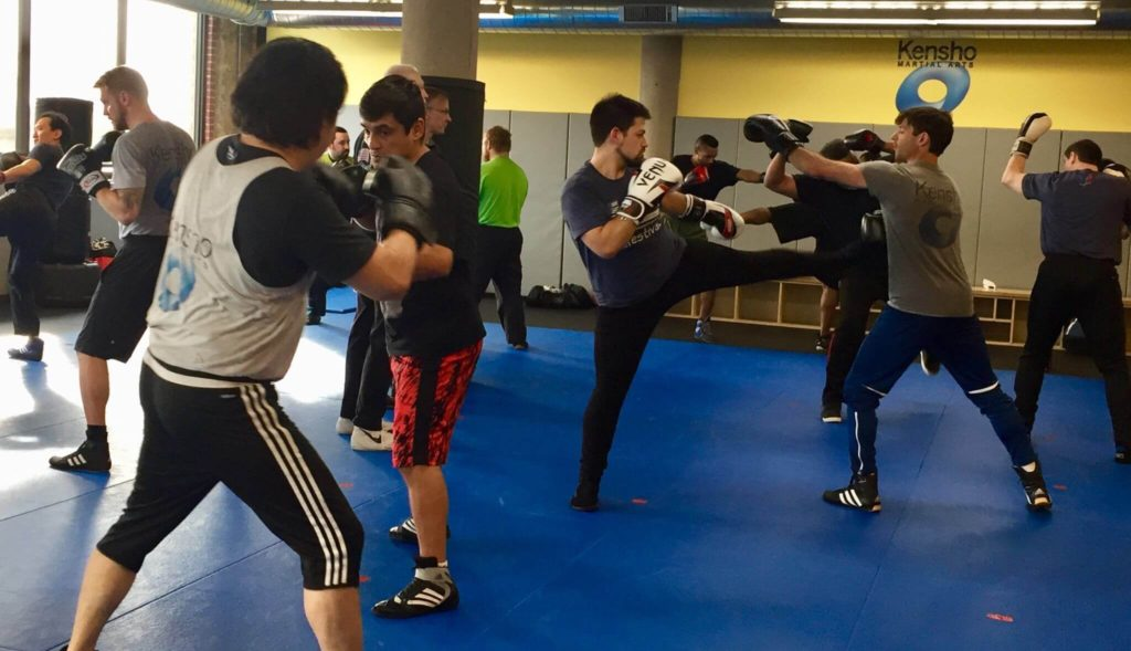 students in a savate class