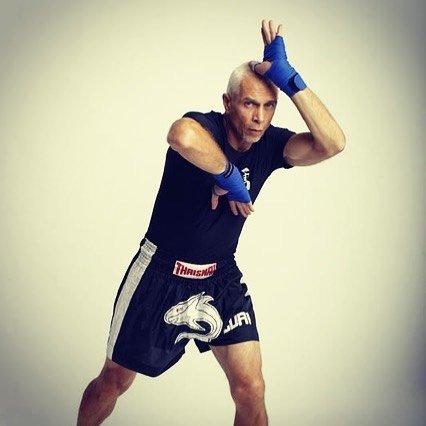Ajarn Roger Luri demonstrating Muay Thai Technique