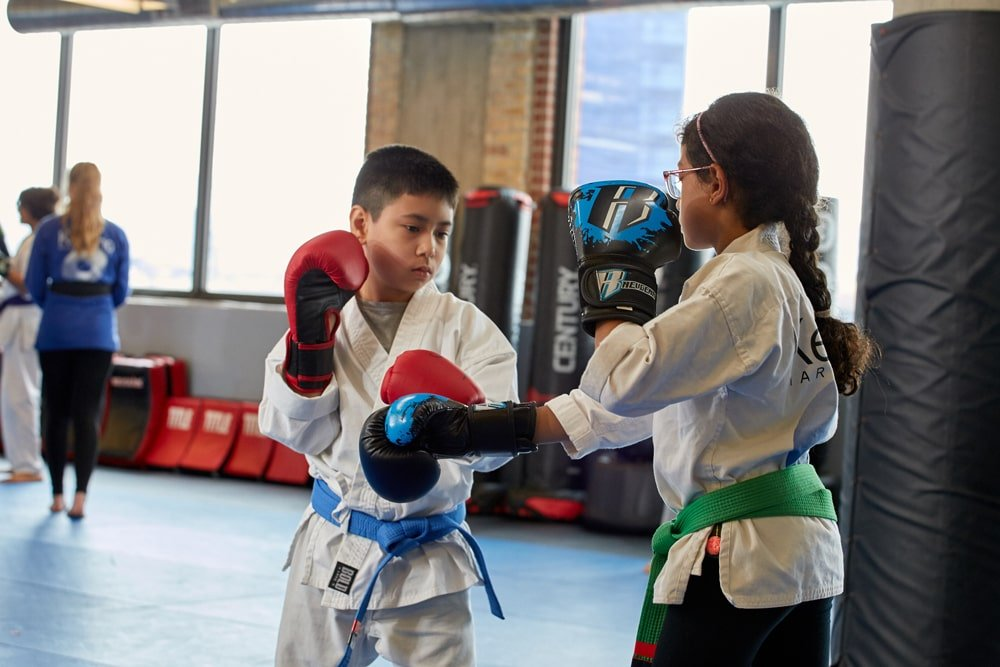Kids martial arts boxing drills
