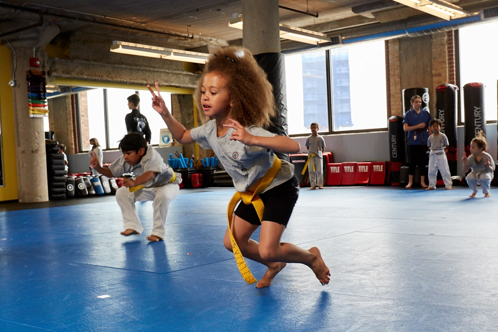 Kids karate class races